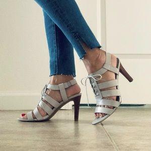 Franco Sarto Quinton Leather Lace Up Heels